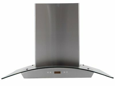MaxAir Canopy Chimney Style 720 CFM Hood with Curved Glass 30 inch MXR-D01-30