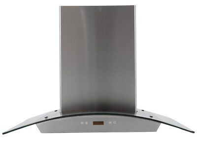 MaxAir Canopy Chimney Style 720 CFM Hood with Curved Glass 36 inch MXR-D01-36