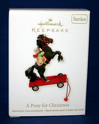 Hallmark Ornament 2012  A Pony For Christmas  #15 In The Series