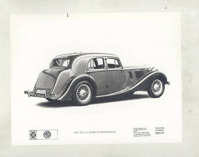 1938 MG 2.6 Liter Sports Saloon ORIGINAL Factory Photograph wy4277