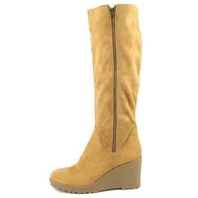 c2717898867f NINE WEST WOMEN S Chillout Knee-High Wedge Boot TAN SZ 9 M -  70.01 ...