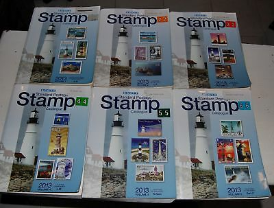 Scott Postage Stamp Catalog 2013 complete set of 6 volumes