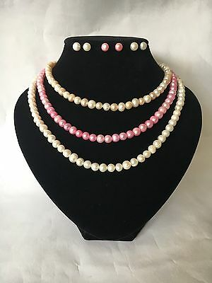 Choice of Stunning Genuine Pearl & 925 Silver Necklace, Earrings & Bracelet Sets