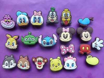 20 Mickey Mouse & Friends jibbitz croc shoe charms wrist loom band cake toppers