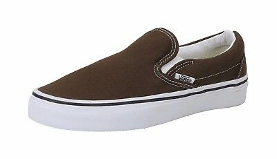 Vans Unisex Women Men Shoes Classic Slip On Espresso Chocolate Brown Canvas