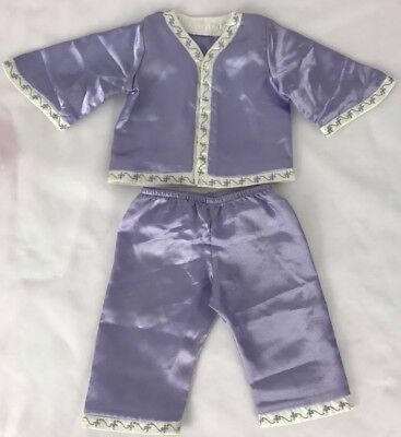American Girl Doll Nellie Purple Satin Pajamas 18 Inches doll