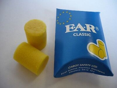 E.A.R Classic Ear plugs Ideal For MUSICIAN CONCERTS SOUND LIGHTING ROAD CREW PPE