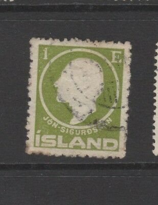 ICELAND 1911 1e GREEN Used