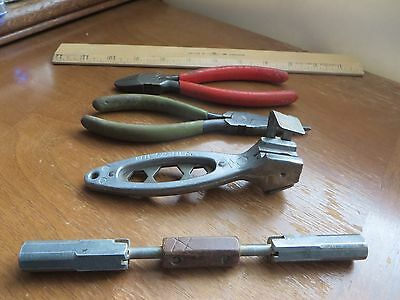 4 Old Vintage BELL SYSTEM Tools - UTICA - CRESCENT - Cutters - Multi Wrenches