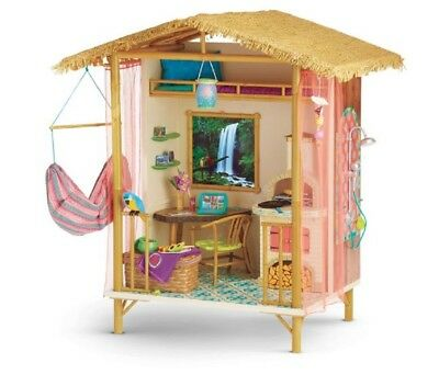 American Girl Lea's Wooden Rainforest House Brazil Goty 2016 Treehouse Lea's New