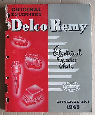 Original 1949 OEM Delco-Remy Electrical Service Parts Catalog GM Products Canada