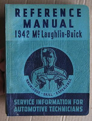 1942 McLaughlin-Buick Reference Manual Buick Special Super Roadmaster Shop Book