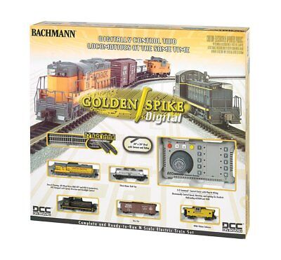 Bachmann Industries Golden Spike Ready to Run Electric Train Set with Digital Co