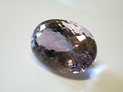 Large natural earth-mined certified amethyst oval gemstone...84 carat