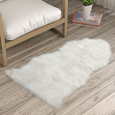 Fluffy Faux Fur Sheepskin Rug Floor Mat Extra Thick Chair Cover Blanket 60*90cm