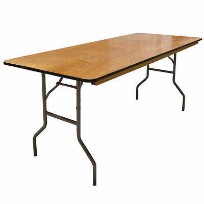 6' Wood Rectangle Banquet Folding Table (Price is for 10 Tables)