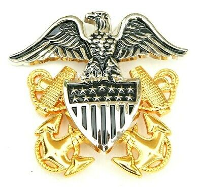 Usa Navy Officer Hat Cap Captain Admiral Hat Metal Badge - Hi Quality - Cp Made