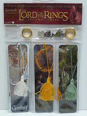 Lord Of The Rings Two Towers 6 Bookmark & Charms Set incl Hard to Find TREEBEARD