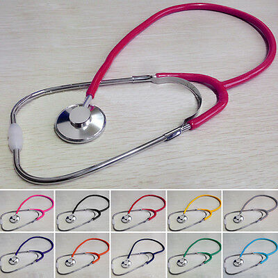 Pro 60cm Single EMT Headed Stethoscope Fits Doctor Nurse Aid Vet Medical Blood
