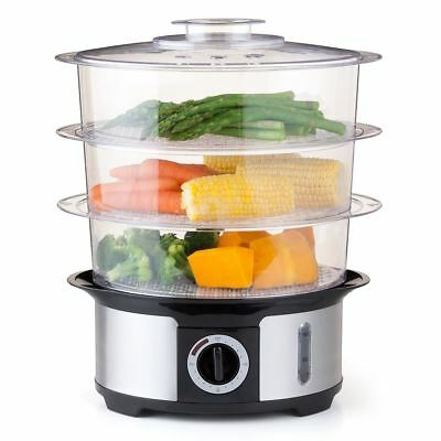 Food Steamer Electric 3 Tier Steam Vegetables Healthy Meals Home Cooking Kitchen