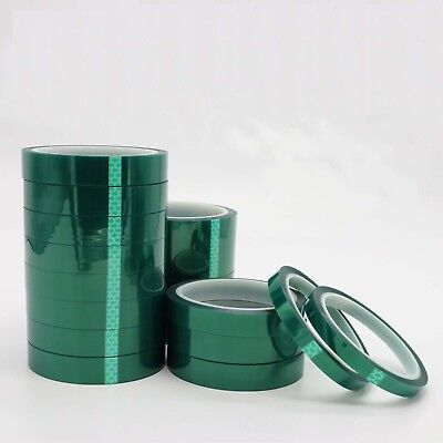 2 Rolls 20mm x 100ft Green PET Tape High Temperature Heat Resistant