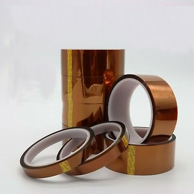 2 Rolls 20mm x 100ft High Temperature Heat Resistant Kapton Tape 3D Printers BGA