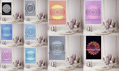 Ombre Mandala Poster Wall Decor Throw Tapestry Indian Cotton Wall Hanging Hippie