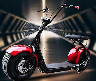 Citycoco 1000w Harley Electric Scooter Fat Tire Double Seat Full Acc's