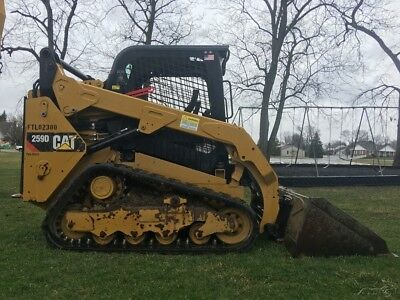 2014 Caterpillar 259D Rubber Track Skid Steer Diesel Loader Tractor Two Speed