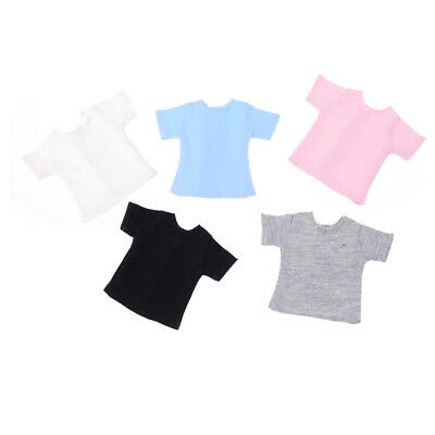 Pretty 1/6 Doll T-Shirt for Blyth Barbies Momoko Azone Doll Clothes Accessory UK