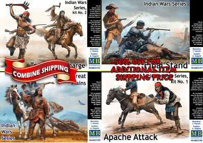 Master Box Full set Indian Wars Series 1/35 scale 4 kits 35188 35189 35191 35192