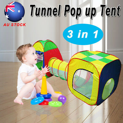 Childrens Toddler Kids bady Play Tent Cubby House Teepee Tunnels Toy Pop Up Tent