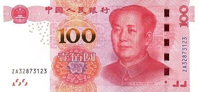 CHINA ¥¥¥100 (2015) Uncirculated ZA REPLACEMENT Note