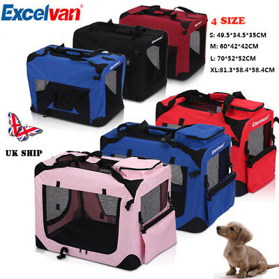 Portable Fabric Soft Pet Dog Cat Crate House Travel Kennel Cage Carrier Bag New