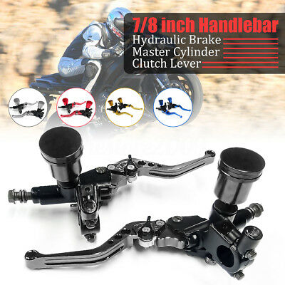 """Pair 7/8"""" Motorcycle Universal Hydraulic Brake Master Cylinder Clutch Lever"""