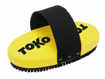 Toko Ski & Snowboard Horse Hair Oval Base Brush with Strap (10mm) Mens Unisex