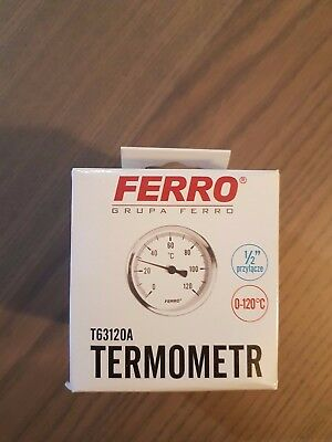 0-120c Termometr 63 water oil temp gauge 1/2 inch rear entry thermometer T63120A