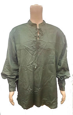 LARP Green Shirt Viscose,Cosplay,Reenactment,Medieval, Pirate, Fancy Dress