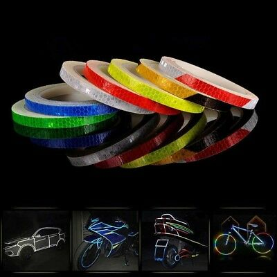1 Roll Reflective Stickers 8M Safety Auto Car Bicycle Cycling DIY Reflector Tape