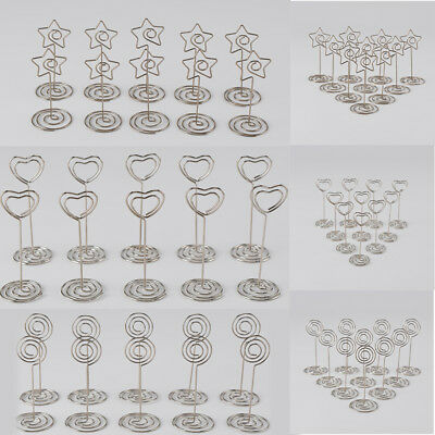 10/20 Place Card Holders Wedding Restaurants Bar Table Photo Memo Number Clip