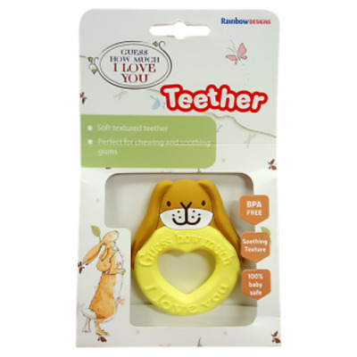 Guess How Much I Love You Baby SILICONE TEETHER TOY Rainbow Designs NEW