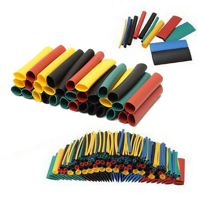 328 Pcs 8 Size Assortment Ratio 2:1 Heat Shrink Tubing Sleeving Wrap Wire Kit AU