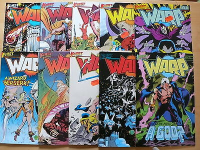 20 First Comics from 1980's inc Warp   all as pictured Free UK P&P