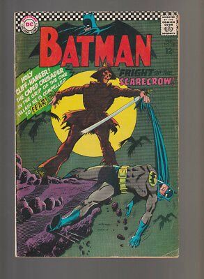 Batman # 189  Fright of the Scarecrow !  grade 5.5 scarce book !