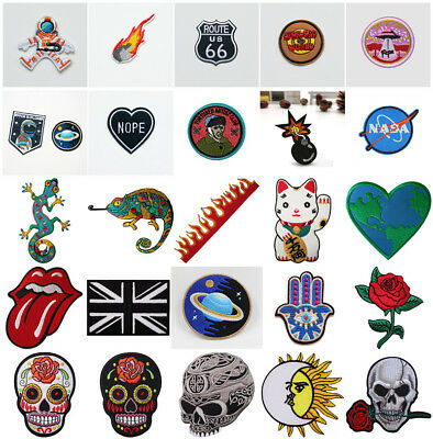 Embroidery Sew Iron On Patch Badges Bag Hat Cap Jeans Fabric Transfer Applique