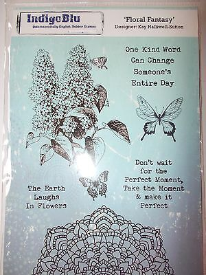 Indigoblu A5 Cling Mounted Rubber Stamp - Floral Fantasy