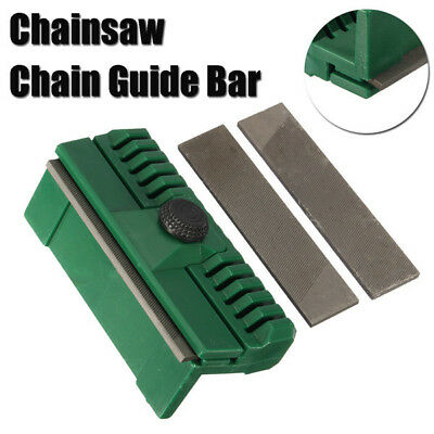 Chainsaw Chain Guide Bar Rail Dresser File Repairer Tool with 2 Files Garden