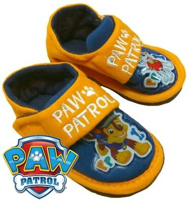 Childrens Kids Toddlers Boys Paw Patrol Strap Up Slippers Uk Size 5-8