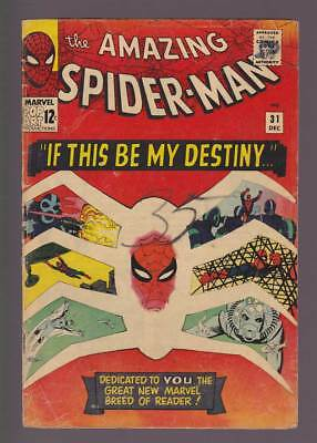 Amazing Spider-Man # 31  If This be my Destiny...!  grade 3.0 scarce book !
