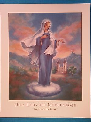 "Our  Lady  Of  Medjugorje         ""pray  From  The  Heart""  Print       1996"